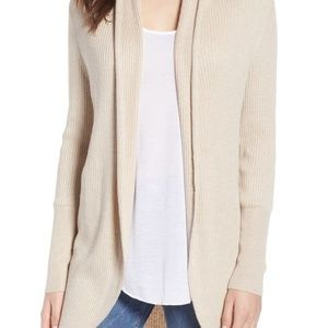 Leith Ribbed Cocoon Shawl Sweater Cardigan